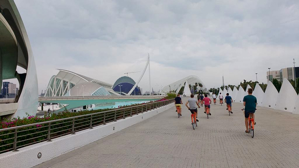 bike ride at City of Arts and Sciences